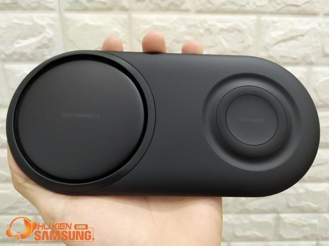 Đế sạc đôi Samsung hỗ trợ sạc điện thoại đồng hồ chuẩn Qi